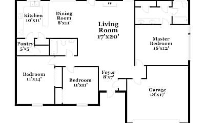 Building, 713 Kensington Ln, 1