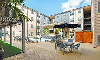 Courtyard, Cherry Street Apartments at Northgate, 1
