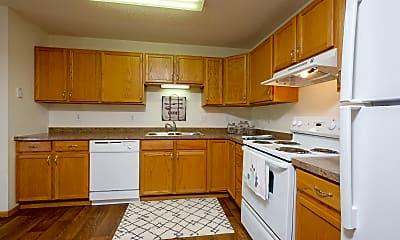 Kitchen, Danbury Apartments, 1