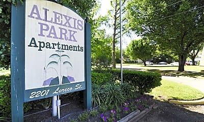 Community Signage, Alexis Park, 0