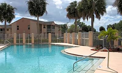 Pool, Coral Palms Apartments, 0