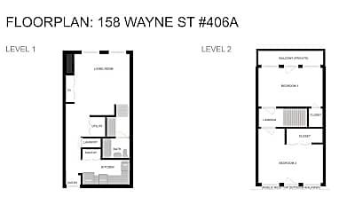 158 Wayne St 406A, 2