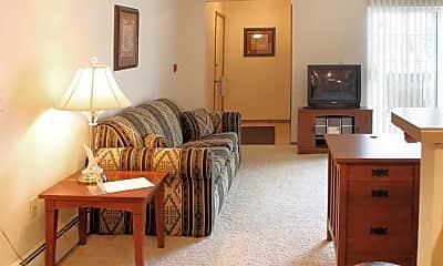 Living Room, Grand Avenue Apartments, 1