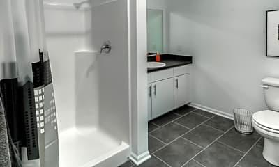 Bathroom, 8 Street Apartments, 2