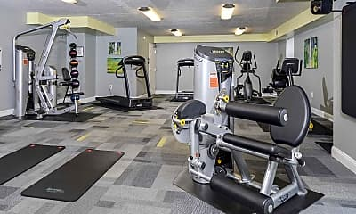 Fitness Weight Room, Westover Club Apartments, 2