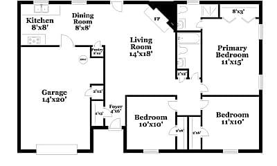 Building, 824 Vaughn Dr, 1