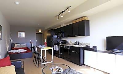 Living Room, Corso Apartments, 1
