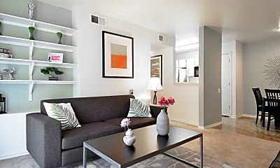 Living Room, Country Place Apartments, 1