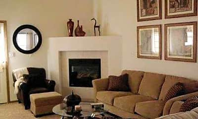Living Room, West Indian Hills Townhomes, 2