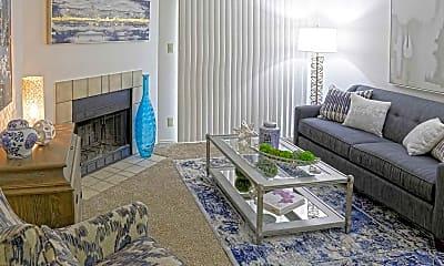Living Room, Vineyard Apartments, 1