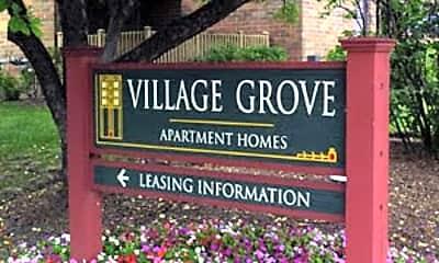 Community Signage, Village Grove Apartments, 0