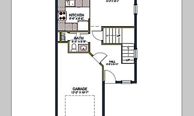 226 E Whitman Dr #2 lower floor plan SQ.png, 226 E Whitman Dr, Unit 2, 1