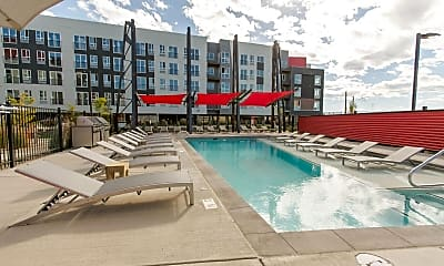 Pool, Oxford Station Apartments, 1