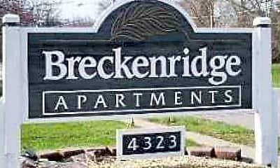 Community Signage, Breckenridge Apartments, 1