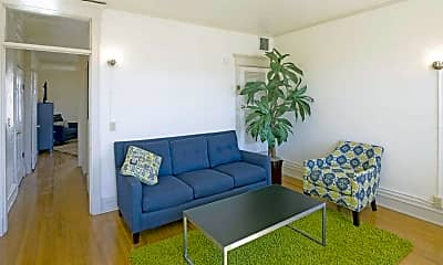 Living Room, Pearl Apartments, 1