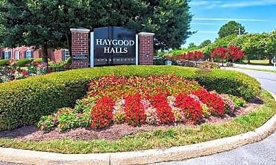 Community Signage, Haygood Halls, 1