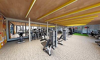 Fitness Weight Room, Hub on 3rd & University, 2