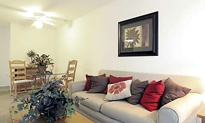 Living Room, Clovertree Apartments, 1