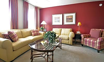 Living Room, North Haven of Carmel Apartments, 1