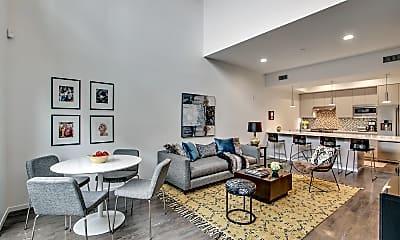 Living Room, 1342 N Hayworth Ave, 0