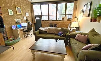 Living Room, 1350 N Wolcott Ave 1S, 1
