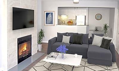 Living Room, Decatur Flats, 0