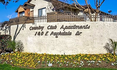 Community Signage, Country Club Apartments, 2