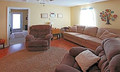 Living Room, St. Charles Apartments, 1