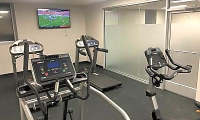 Fitness Weight Room, Cloverly Park Apartments, 2
