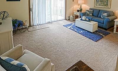 Living Room, Birchwood Square Apartments, 1