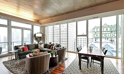 Living Room, 550 N St Clair St 2206, 1
