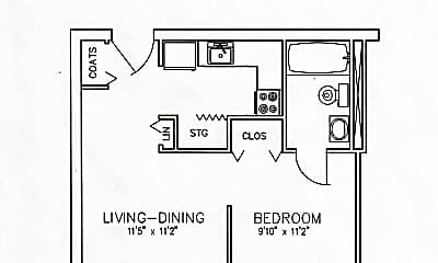 Pinewood East Efficiency Apartment.jpg, 7900 Benesch Circle, 1