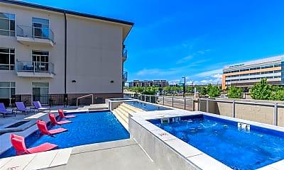 Pool, Lofts at Lincoln Station Apartments, 1