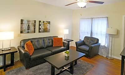 Living Room, Parkland Point Apartments, 1