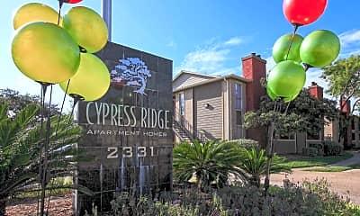 Community Signage, Cypress Ridge Apartments, 2
