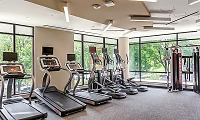 Fitness Weight Room, Russell at Reston Station, 0