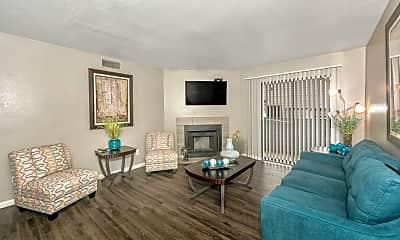 Living Room, Pecan Ridge Apartments, 1