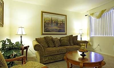 Living Room, Sienna Senior Apartments, 1