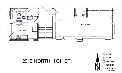 Bathroom, 2317 N High St, 2