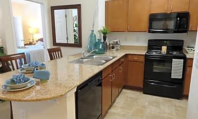 Kitchen, 700 Acqua Luxury Apartments, 0
