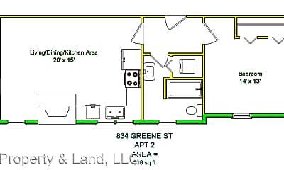 Kitchen, 834 Greene St, 2