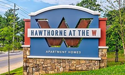 Community Signage, Hawthorne at the W, 2