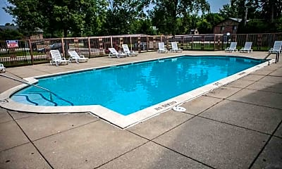 Pool, Country Squire Apartments, 2