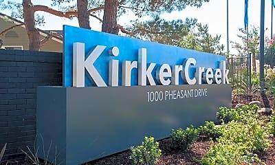 Community Signage, Kirker Creek, 1