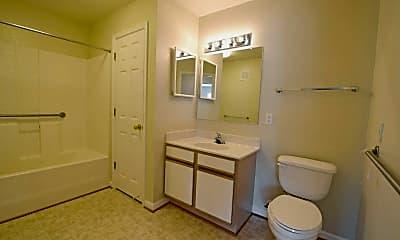 Bathroom, Chester Village Apartments, 2