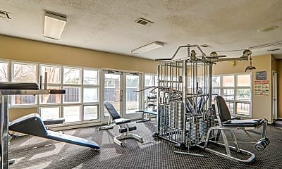 Fitness Weight Room, Magnolia Terrace, 2