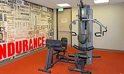 Fitness Weight Room, San Pedro Bank Lofts, 2