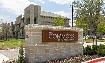 Community Signage, Commons of Chapel Creek, 2