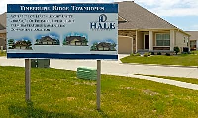 Community Signage, Timberline Ridge Townhomes, 2