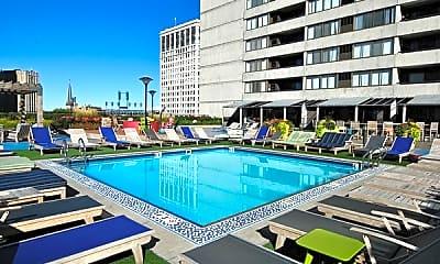 Pool, Detroit City Club Apartments, 2